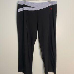 Nike Black Wide Leg Cropped Pants-size XL